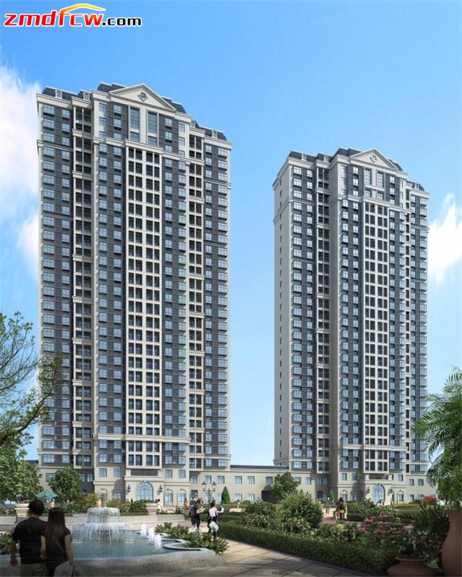 蓝天·卢浮9号墅区高层建筑单体效果图