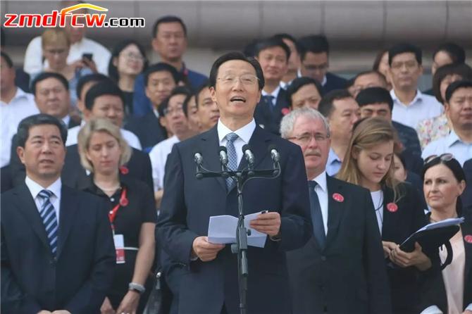 国家农业部部长韩长赋致辞。