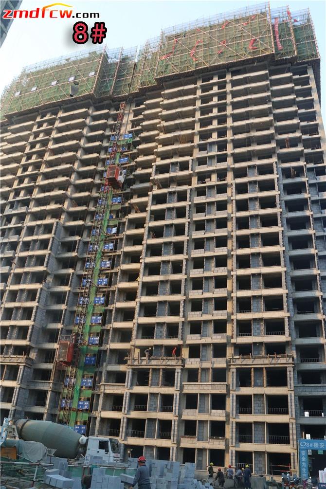 8#楼主体还没封顶,砌墙到15层
