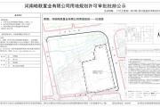 河南皓联置业有限公司用地规划许可审批批前公示