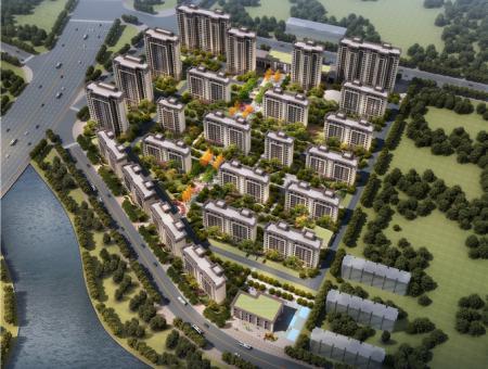 西平建业城(鸟瞰图)